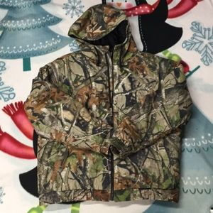 Mens Lodge Outfitters Camo Coat